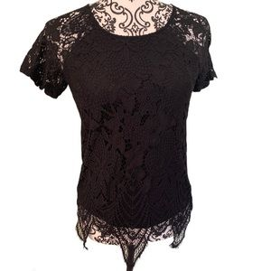 Maurice's layered asymmetrical lace top